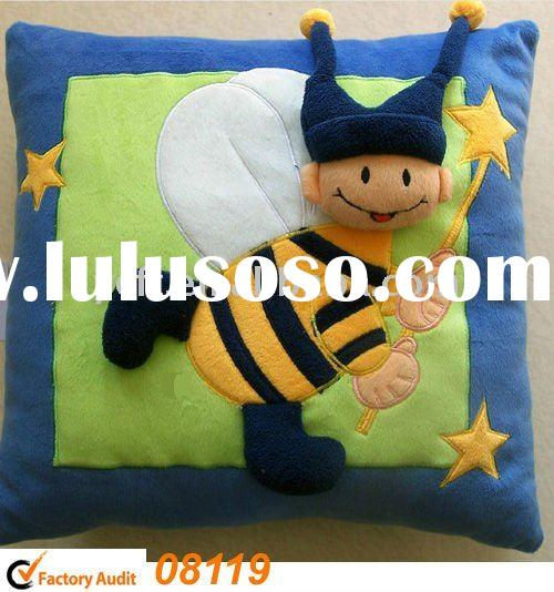 plush and stuffed Decorative pillows,Cartoon Bee -08119