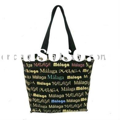 printed city name cotton canvas bags