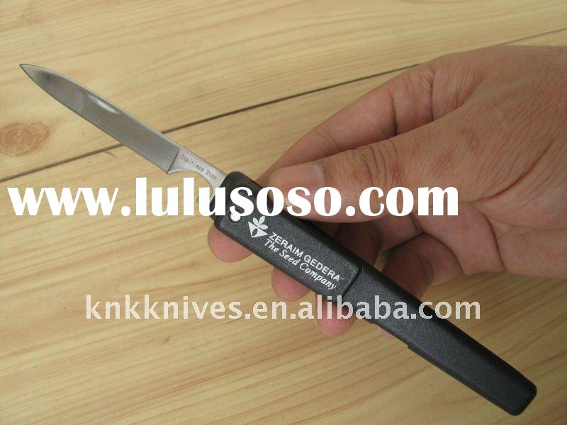 promotional pocket knife / promotional pen knife / plastic handle knife with pocket clip