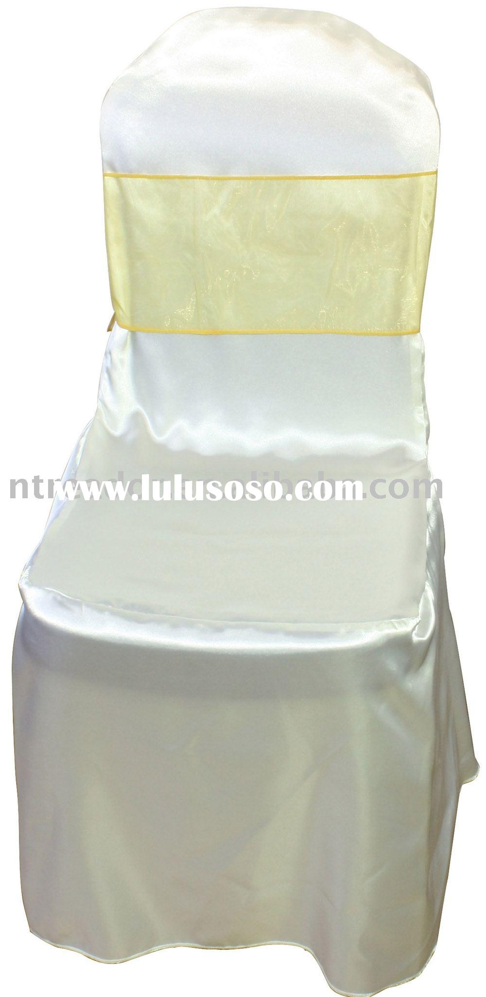 satin chair cover and sashes, banquet chair cover, wedding chair covers