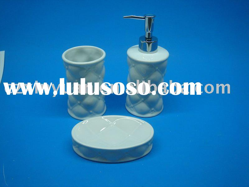 set 3 ceramic bathroom accessories