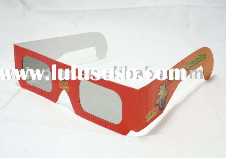 simple paper Circular Polarized 3D Glasses with high quality