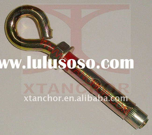 sleeve anchor with eye bolt (O hook bolt) & red plastic