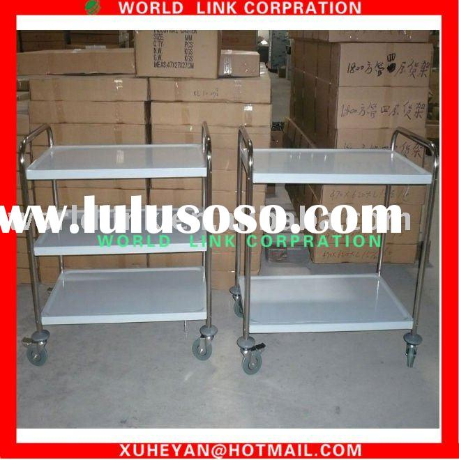 stainless steel food kitchen cart