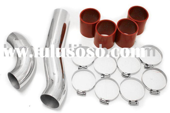 stainless steel short ram air intake aluminum air intake pipe car universal intake pipe