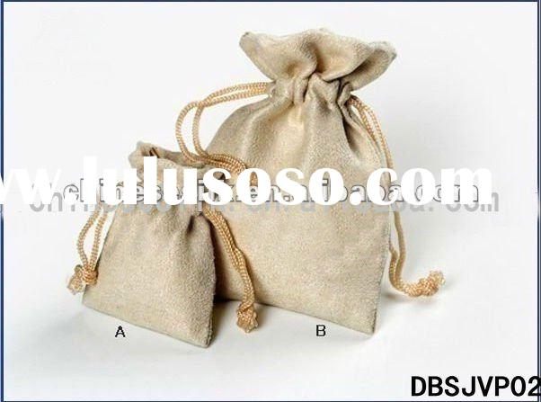 suede drawstring bag,suede jewelry pouch,bag