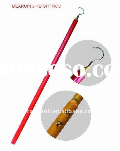 telescopic height measuring rod