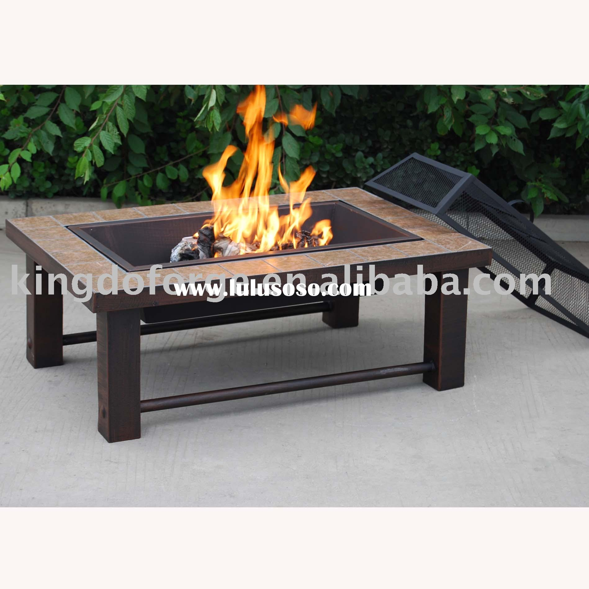 tabletop fire pit best giallo santo granite octagon fire pit