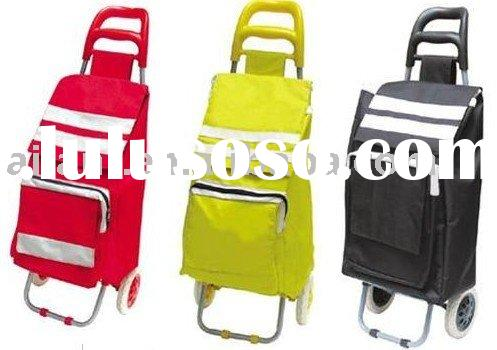 two wheels shopping luggage bags with rolls