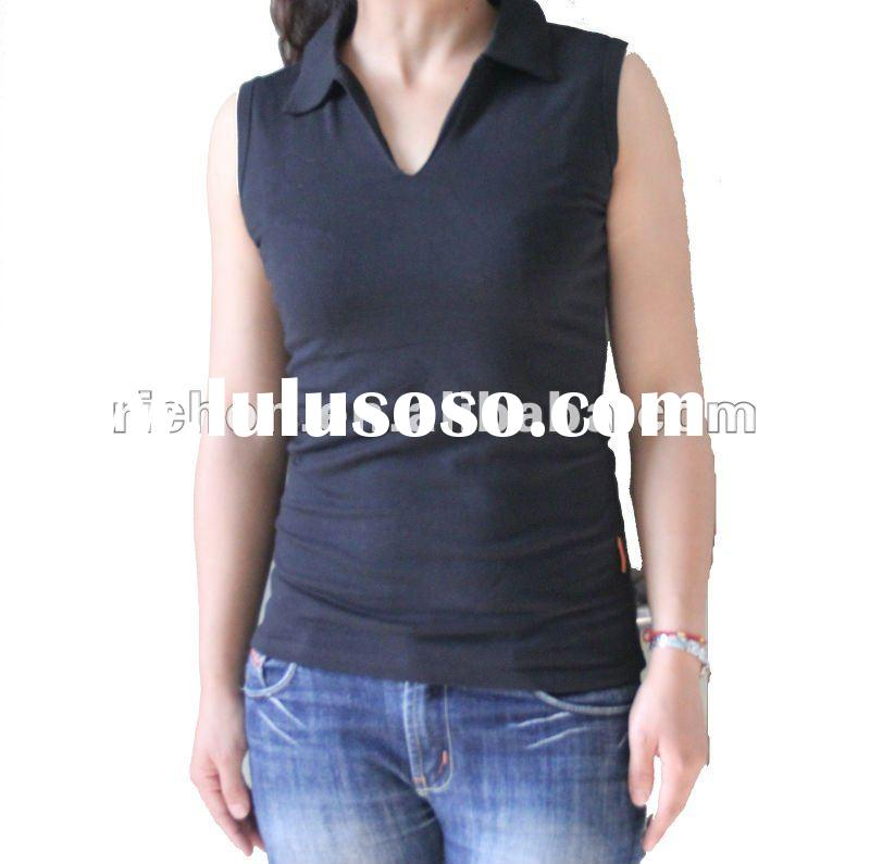 women's sleeveles cotton spandex t-shirt