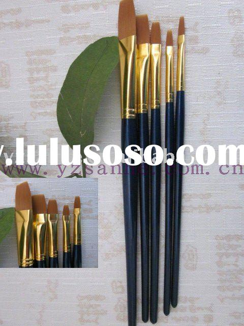 yellow synthetic artist painting brush