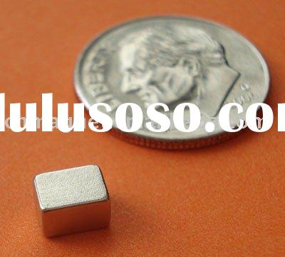 0.21 in x 0.16 in x 0.125 in Thick, Grade N48, Neodymium Rare Earth Magnets - AFX Slot Car Neo Tract
