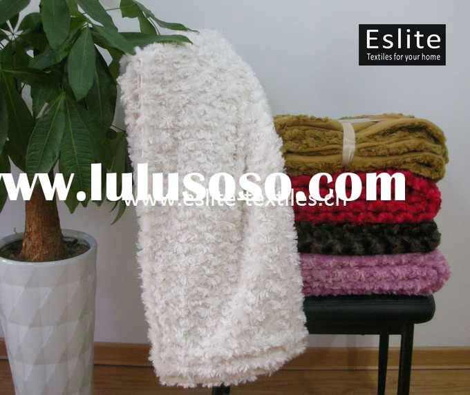 100% Polyester Curly Faux Fur Throw