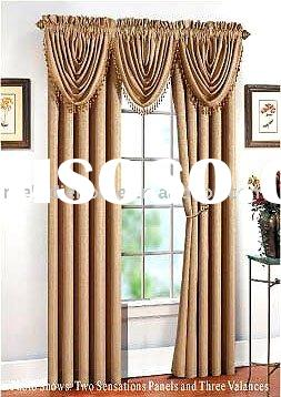 100% Polyester jacquard dying window curtains fabric/valance(home textile)
