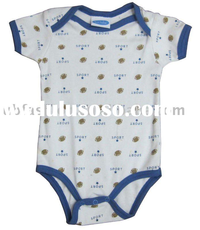 100%cotton printing baby clothing