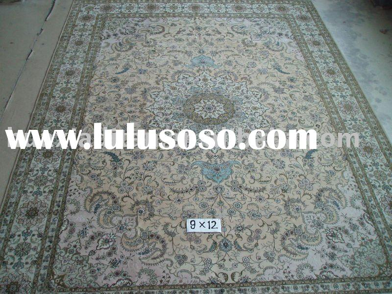 100% hand knotted silk/wool rugs/carpets