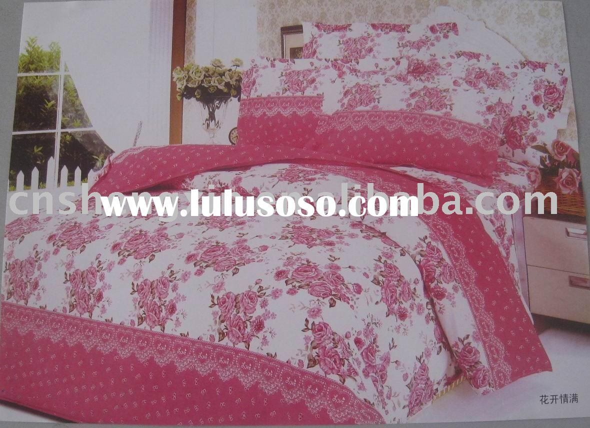 100% polyester 4 pcs bedding sets (King, Queen,Twin)