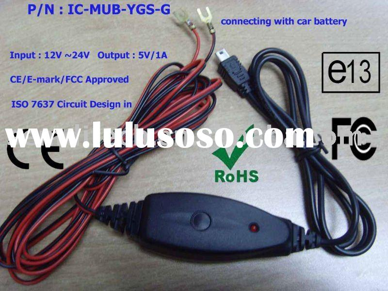 12v24v MINI USB Car Battery Charger
