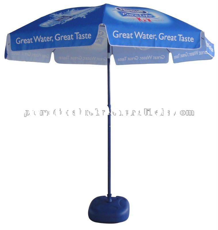 160g polyester Offset printing advertising promotion beach umbrella with tilt