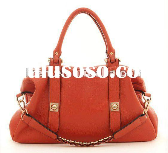 1&2 2012 New Design And Hot Selling Fashionable Genuine Ox Leather Ladies' Handbag