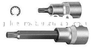 "1/2"" Drive Spline Bit Socket, Screwdriver Bit Socket, Spline Bit Socket, Socket Set Hand Tools"