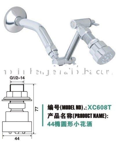 1.7'' mini oval design and water saving brass faucet shower(XC608T/ISO9001)