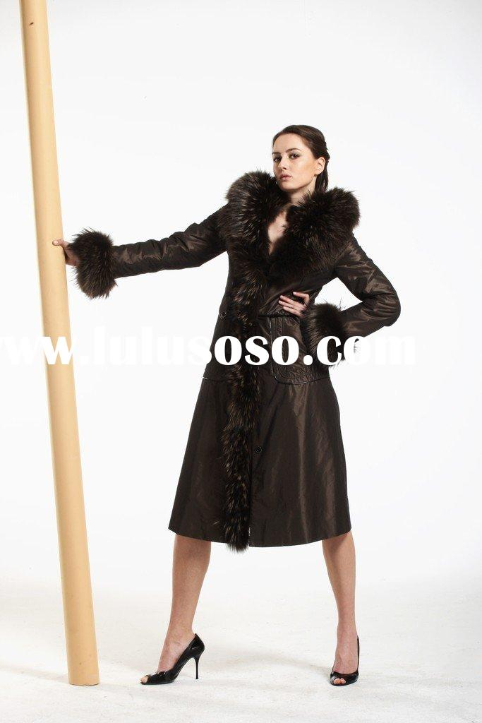 2010---DN&GR fur coats with fox fur collar and cuffs
