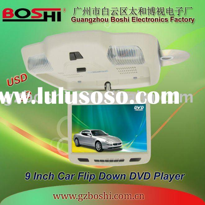 2010 HOT 9 inch Car DVD player with ceiling mount