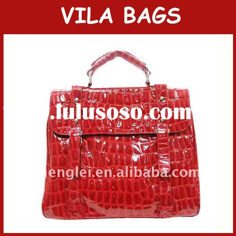 2011 Genuine leather handbags popular Red