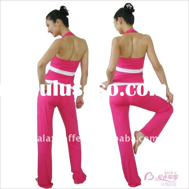 2011 Hot Popular Yoga Wear sportswear Suits Top tee shirt and pants shorts yoga products
