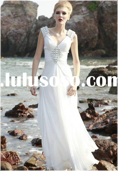 2011 New Arrival beading sequins 100%Chiffon C80611 Wedding Dress