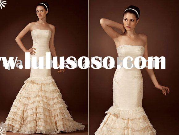 2011 New style hot sale wedding dress/wedding gown