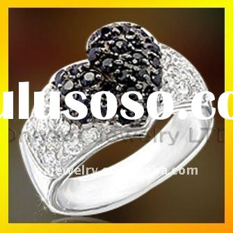 2011 classic heart CZ ring, solid 925 sterling silver ring for women