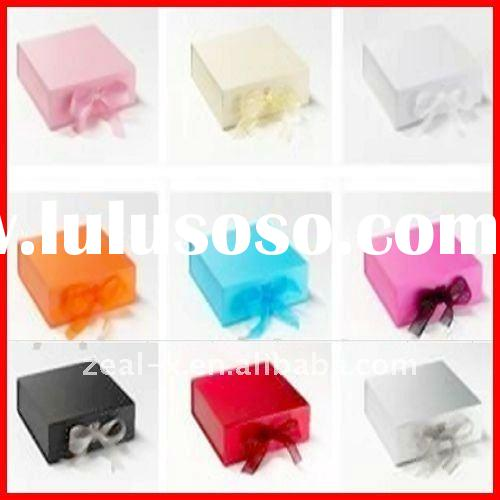 2011 colorful handmade paper folding packaging gift box with ribbon