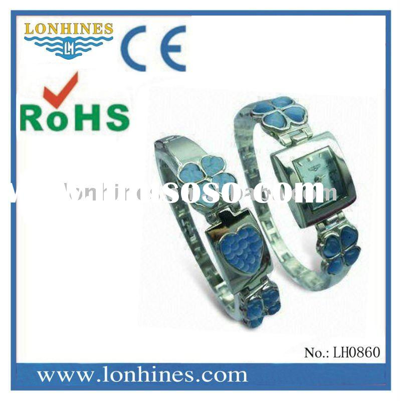 2011 fashion promotional gift watch square chain and bracelet wrist watch LH0860