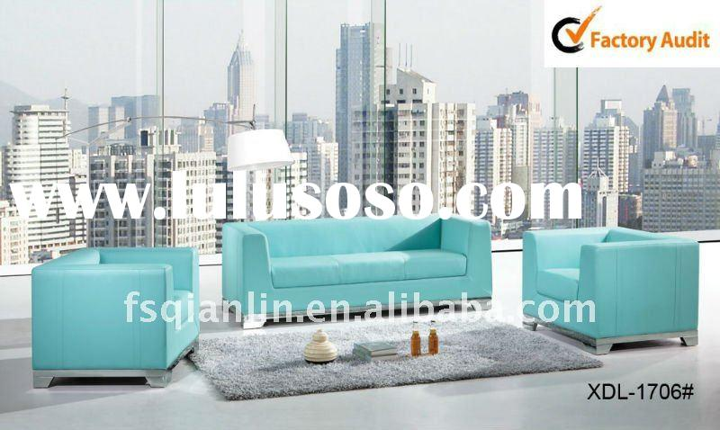 2011 new leather modern sofa design(Model No.1706)