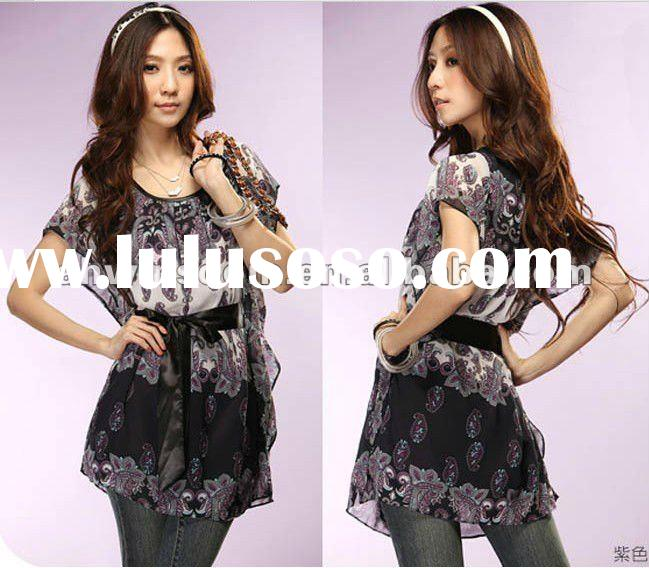 2013 top clothes women's batwing sleeve loose plus size short-sleeve T-shirt