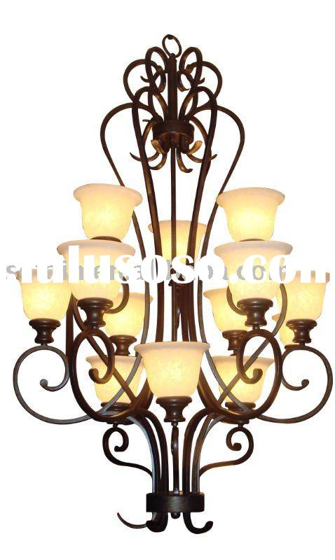 2012 Europe style chandelier with three lights Classical Black Simple European Design Metal Chandeli