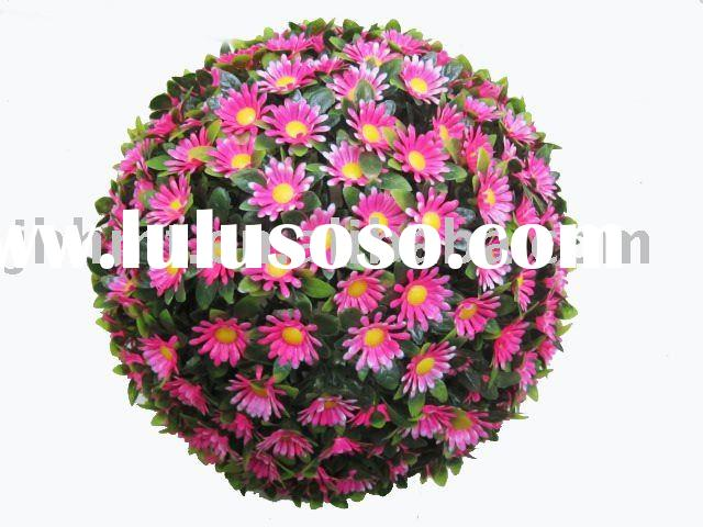 2012 Hot Decorative Red Artificial Flower Ball