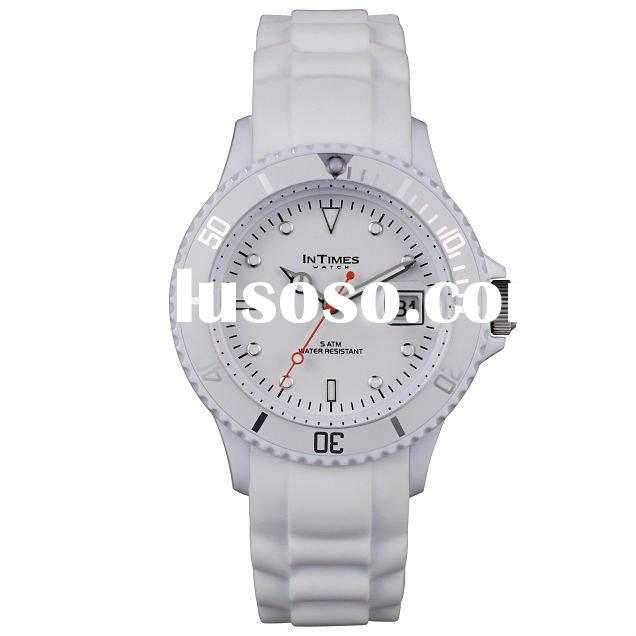 2012 INTIMES Silicone 5ATM Water-resistant Quartz Brand Watch