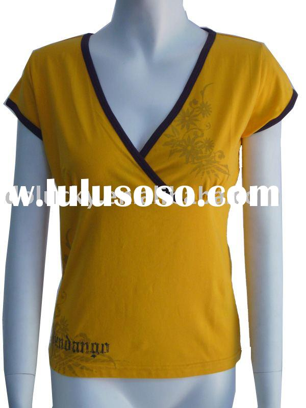 2012 fashion special style of Lady's t-shirt