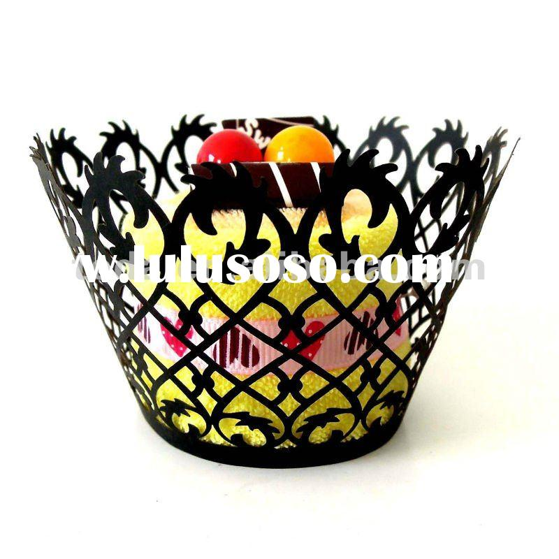 2012 filigree Cupcake wrappers wedding decoration cake Accessory