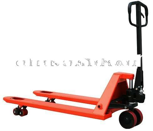 2012 high quality hand pallet truck jack with 2500kgs capacity hydraulic pump forklift PU wheel manu