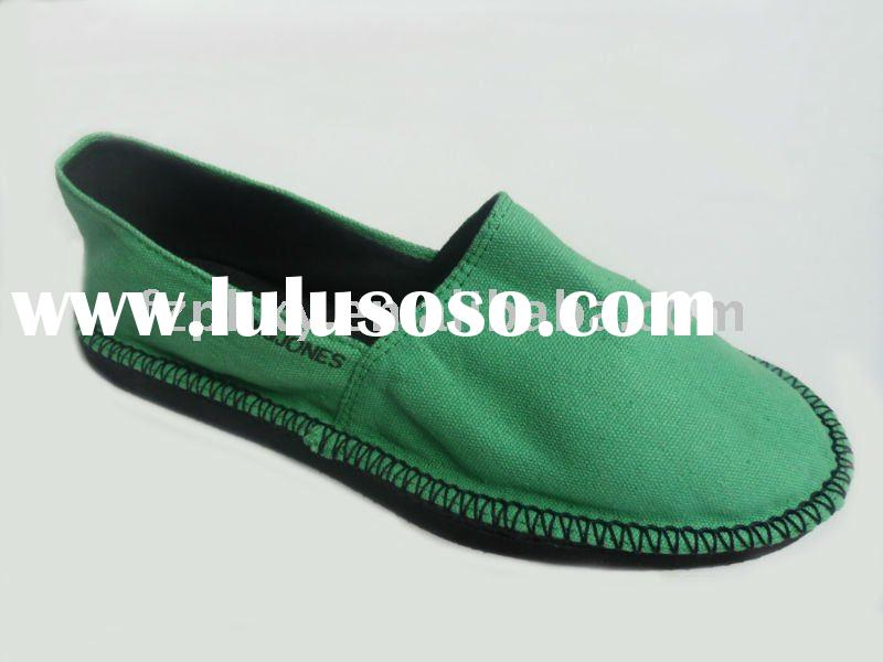 2012 hot sale handmade men and women's rubber canvas shoes