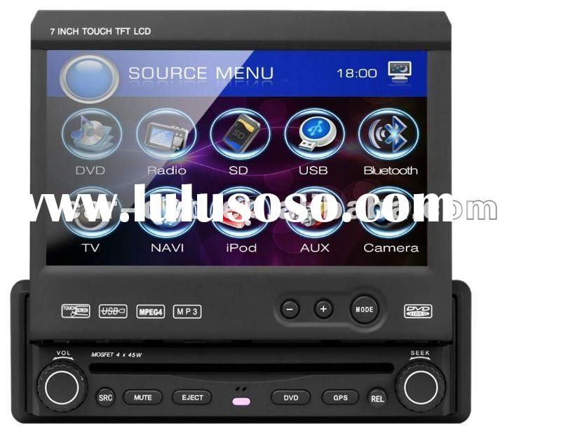 2012 hot sell 7 inch touch screen 1 din car dvd media player with gps navigation