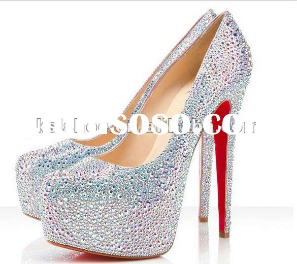 2012 new style red shoes women high heels