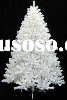 210cm big artificial decorative christmas white tree, pvc huge outdoor pine needles Christmas tree