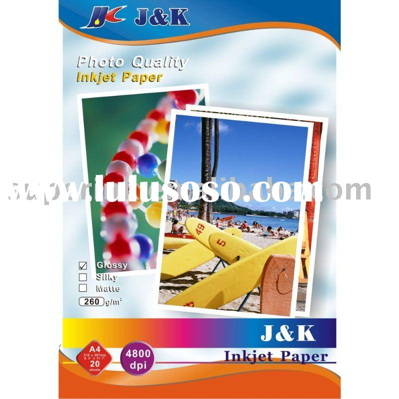 260 gsm Premium Photo Quality Glossy Inkjet Paper