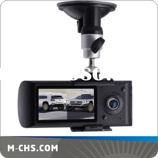 "2.7"" Dual camera HD dual lens gps car dvr"