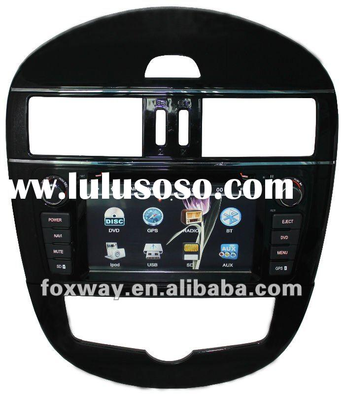 2 din Car DVD player with car GPS for Nissan Tiida 2012